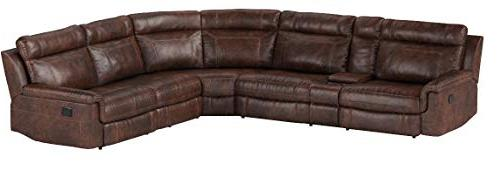 Christies Home Living 6-Piece Sectional with 3 Clark, Brown