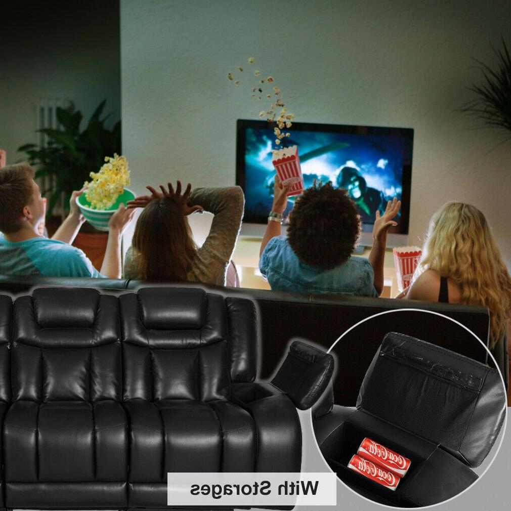 Reclining Home Theater Seating Recliner Sectional Sofa