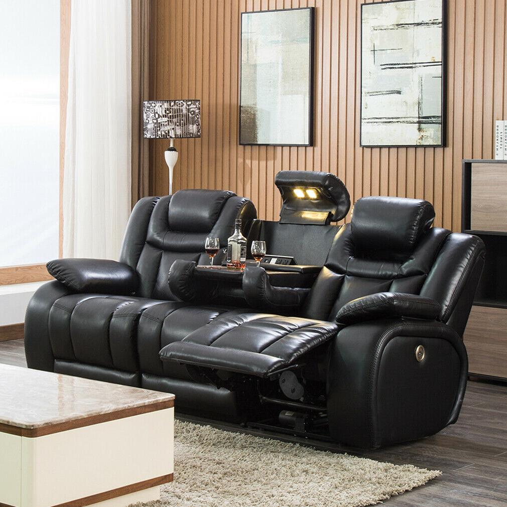 reclining sofa home theater seating power sofa