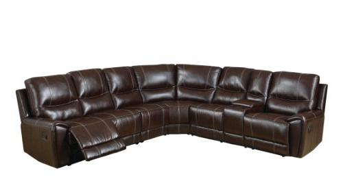 reeden bonded leather match sectional