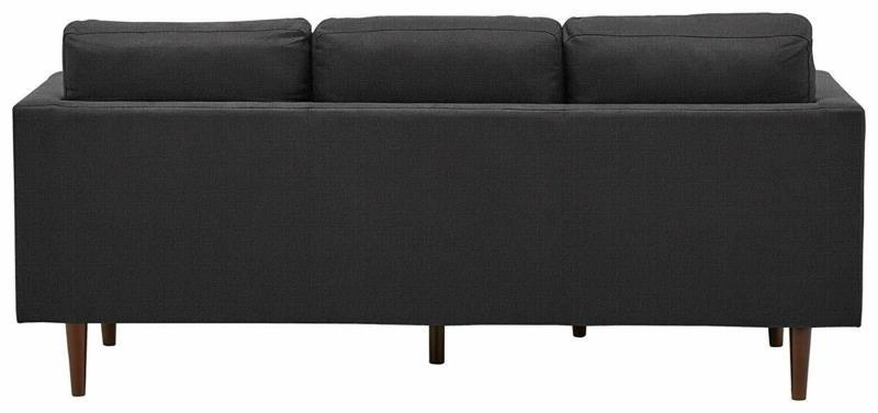 Rivet Chaise Sectional, Grey