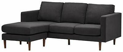 revolve modern upholstered sofa with reversible sectional