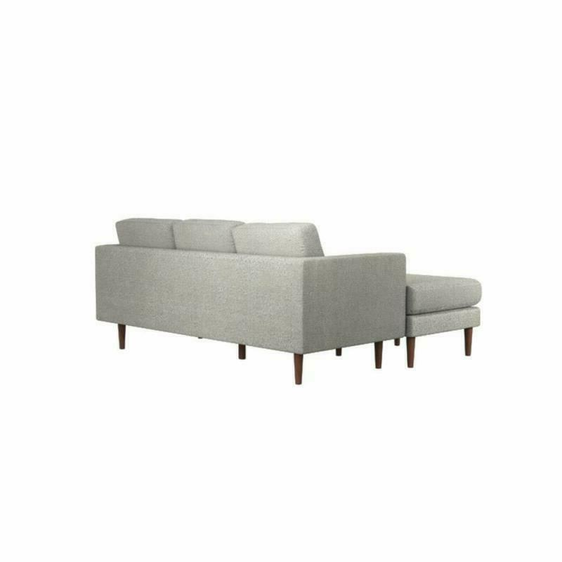 Rivet Reversible Sectional Sofa Couch,