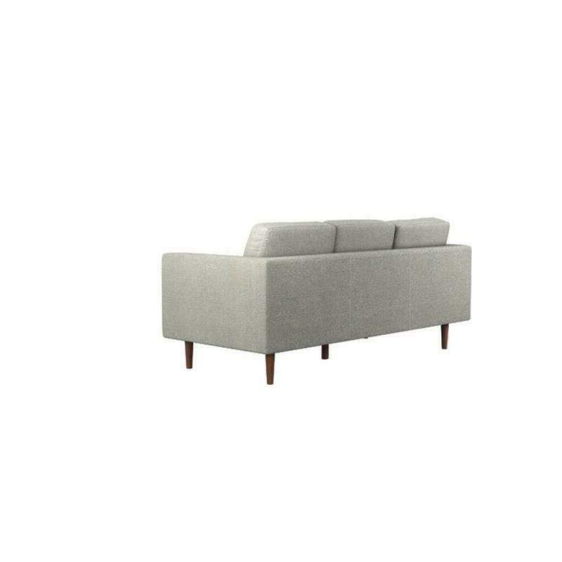 """Rivet Mid-Century Reversible Couch, 80""""W,"""