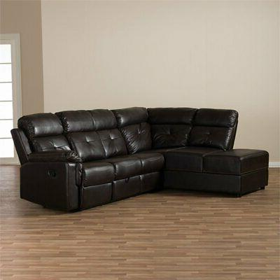 Baxton Studio Piece Reclining Sectional in
