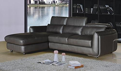 ron leather modern room sectional
