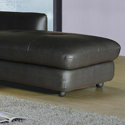 Ron Modern 2-piece Sofa Chaise Sectional Modern Contem