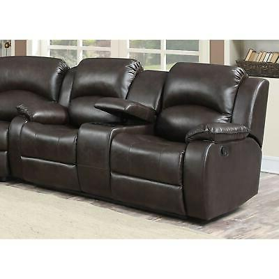 Samara Bonded Leather Reclining Modern Contemporar