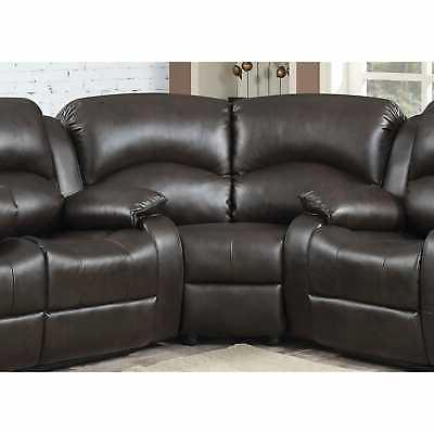 Samara Bonded Leather Reclining Sectional Sofa Modern