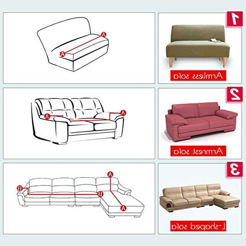 Sand Sofa Slipcover SAFETYON Elastic Sofa Cover Sets L Cover Couch L-type cover 3-seat seat Black