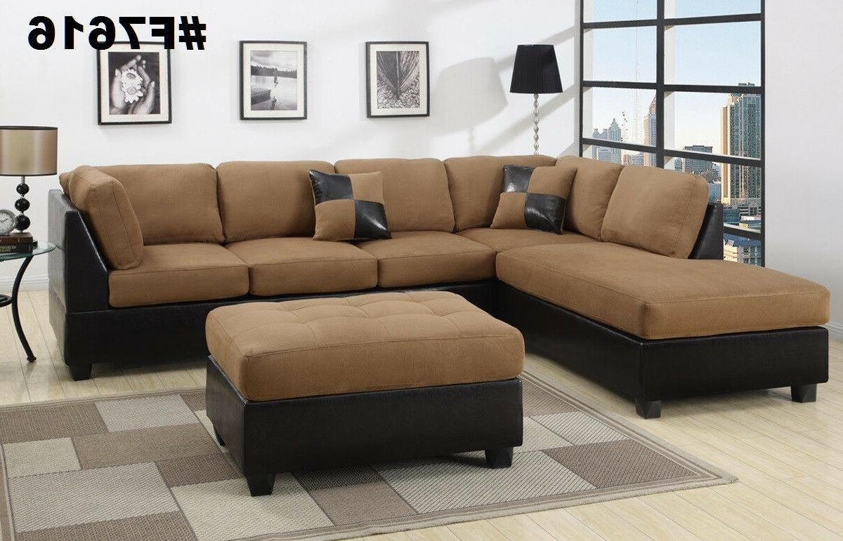 Sectional Sectional Couch in Microfiber Sectional sofas 6 Colors