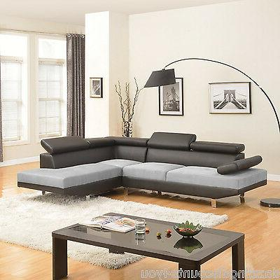 2PC Sofa Modern Leather
