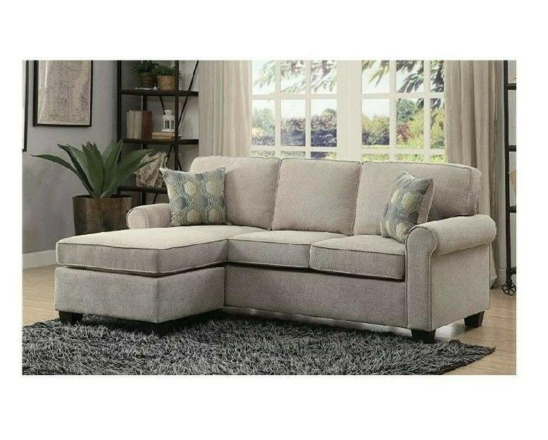 Sectional Accent Reversible Chair Beige