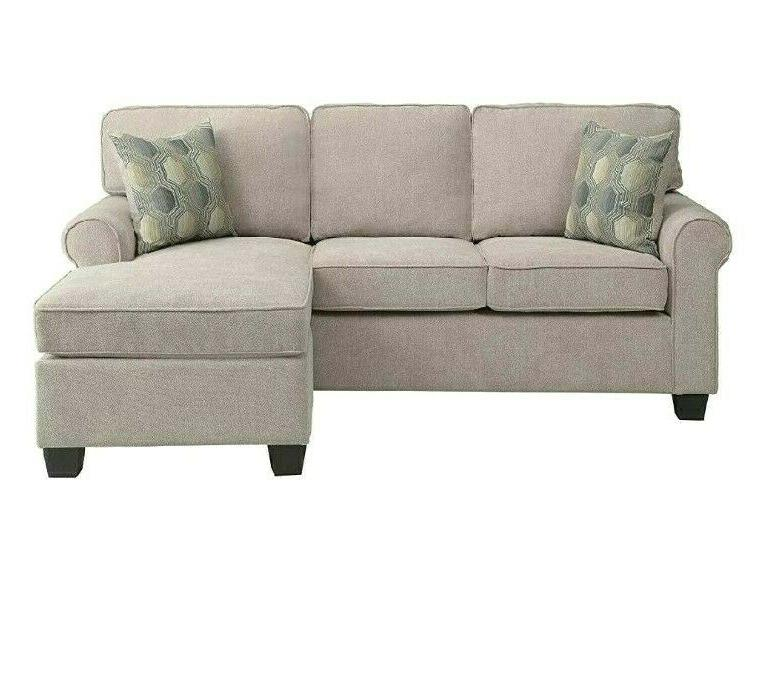 Sectional Sofa Couch Accent Pillows Chair Set