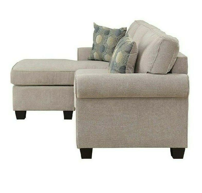 Sectional Couch with Accent Chair Set Beige