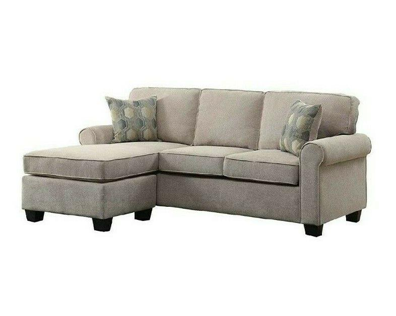 Sectional Sofa Couch with Accent Pillows Chaise Chair Set
