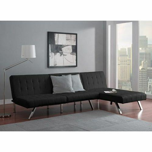 sectional sofa set convertible sleeper faux couch