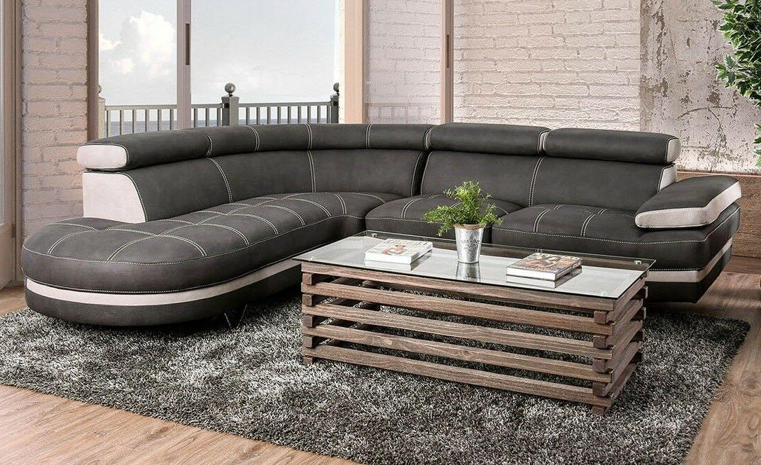 Living Room Sectional Tufted Seat Fabric Leg