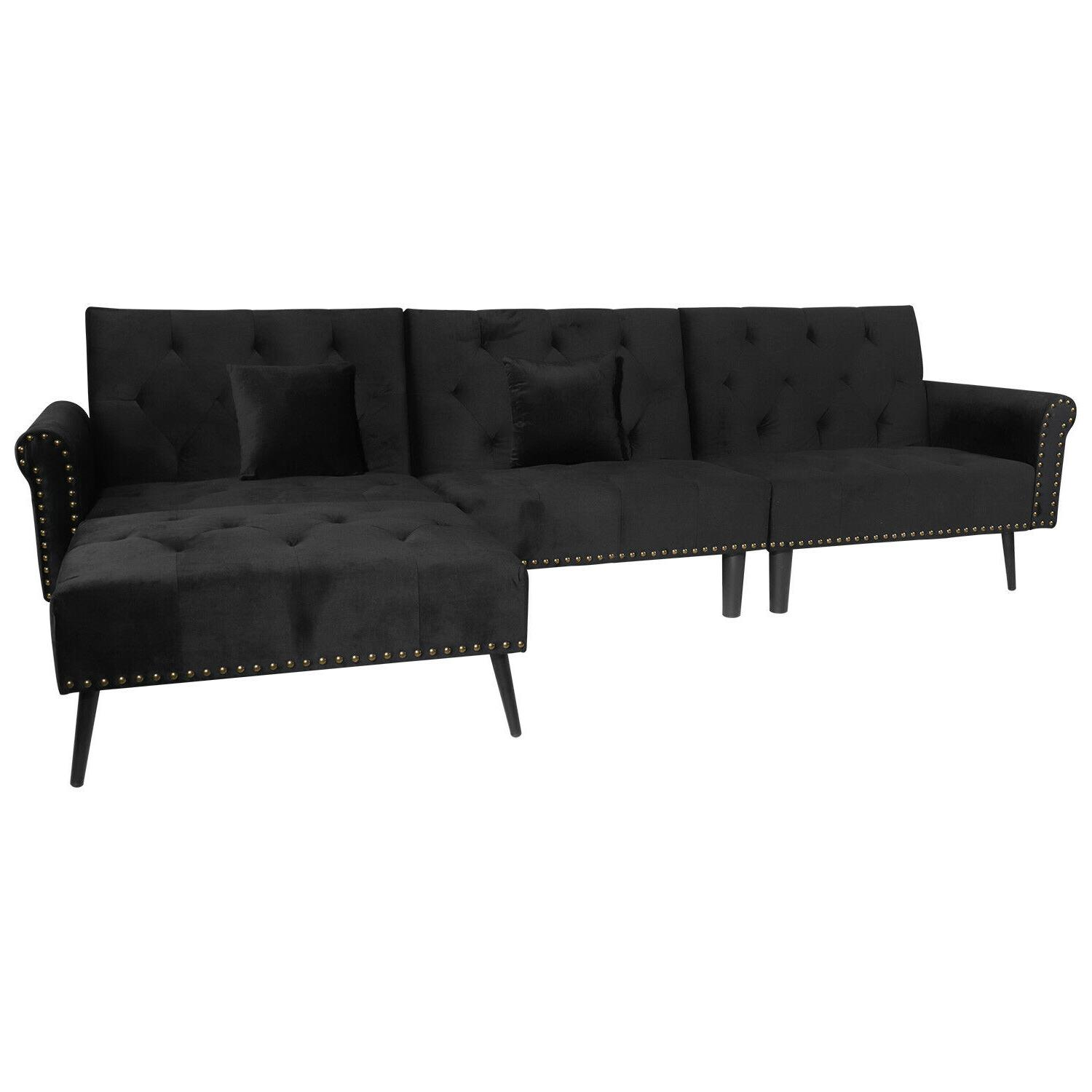 Sectional Sofa 900lb Duty Wide Futon Tufted