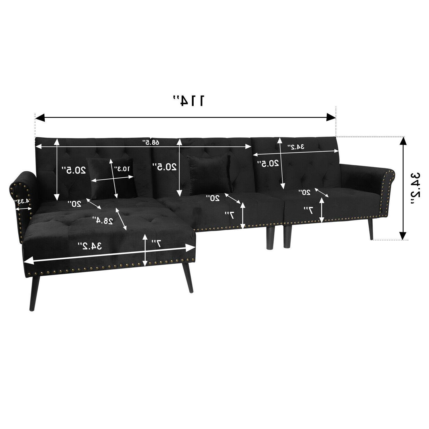 Sectional Sofa 900lb Heavy Wide Sofa Tufted