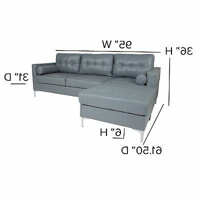 Flash Chaise and Bolster BT-S8376-SFCHSE-GY-GG