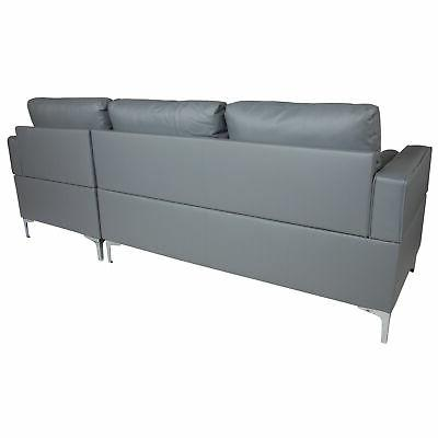 Flash Furniture Sectional Chaise and Bolster BT-S8376-SFCHSE-GY-GG