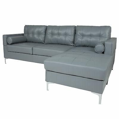 sectional with chaise and bolster pillows bt
