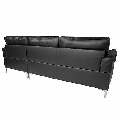 Flash Sectional Chaise In BT-S8375-SFCHSE-BK-GG