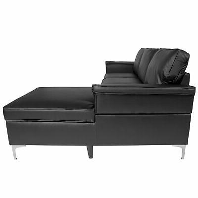 Flash Sectional Chaise Black BT-S8375-SFCHSE-BK-GG