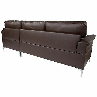 Flash Chaise In Leather BT-S8375-SFCHSE-BRN-GG