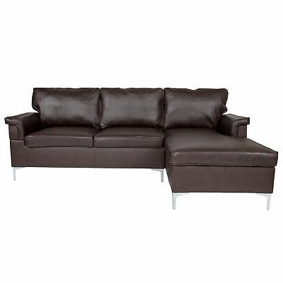 Flash Chaise In Brown Leather BT-S8375-SFCHSE-BRN-GG