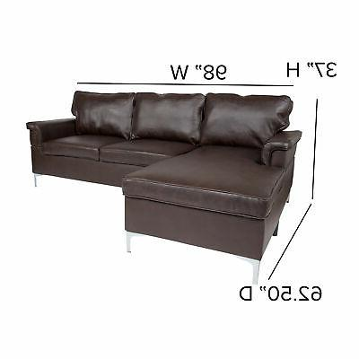 Flash Furniture Sectional Chaise Brown BT-S8375-SFCHSE-BRN-GG