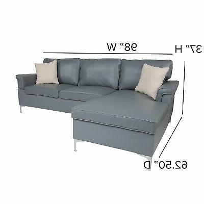 Flash With Chaise In BT-S8375-SFCHSE-GRY-GG