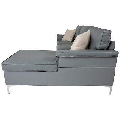 Flash Sectional Chaise In Gray BT-S8375-SFCHSE-GRY-GG