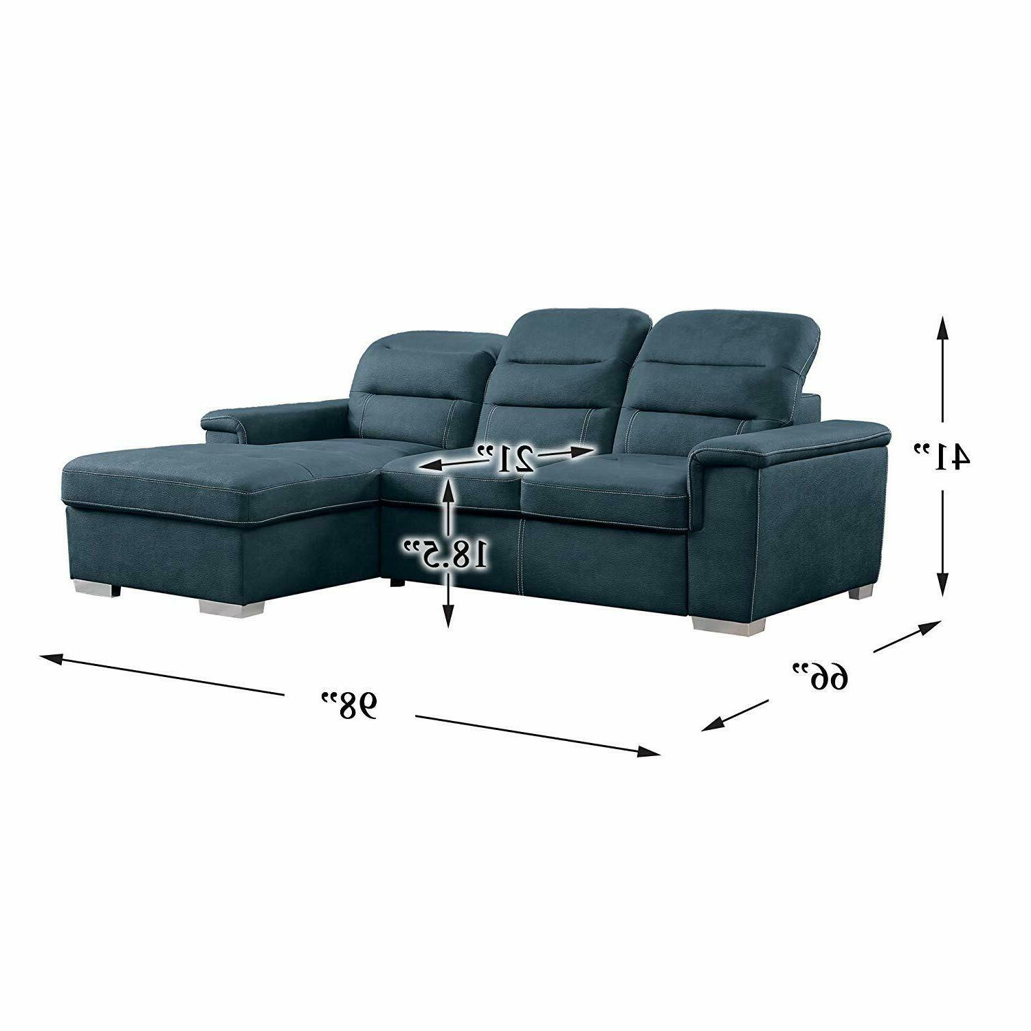 Homelegance Sectional with Blue