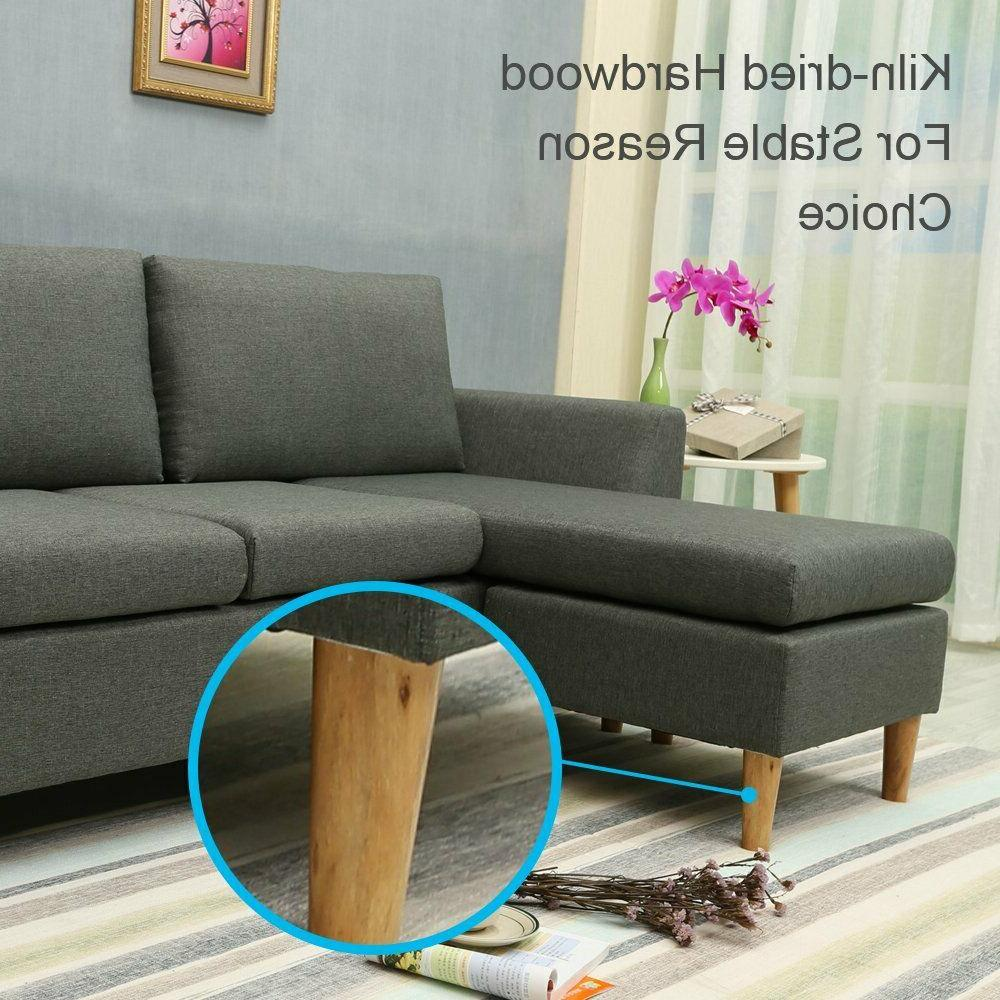 Small couch Reversible Chaise, Sofa with