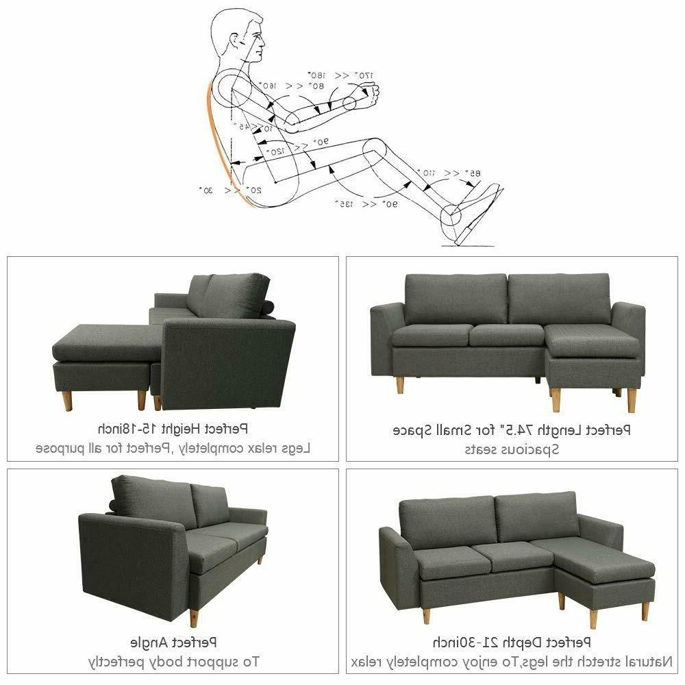 couch Reversible Chaise, Sofa with
