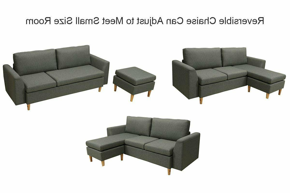 Small Sofa, L-shaped couch Reversible Sofa
