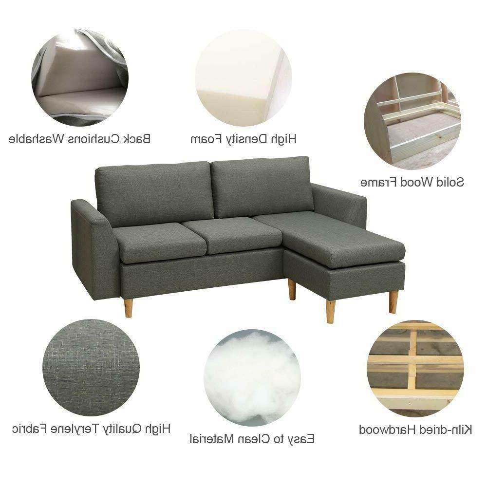 Small Sectional couch Reversible Sofa