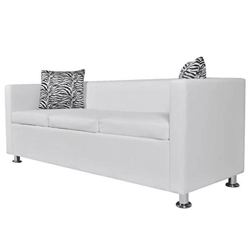 Festnight Faux Leather Couch with Pillows Living Home Furniture