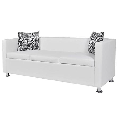 sofa faux leather upholstery modern