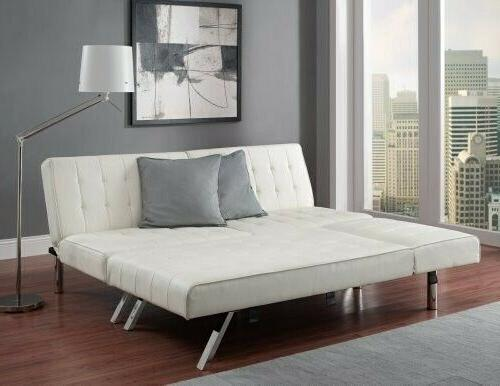 sofa sleeper sectional chaise lounge faux leather