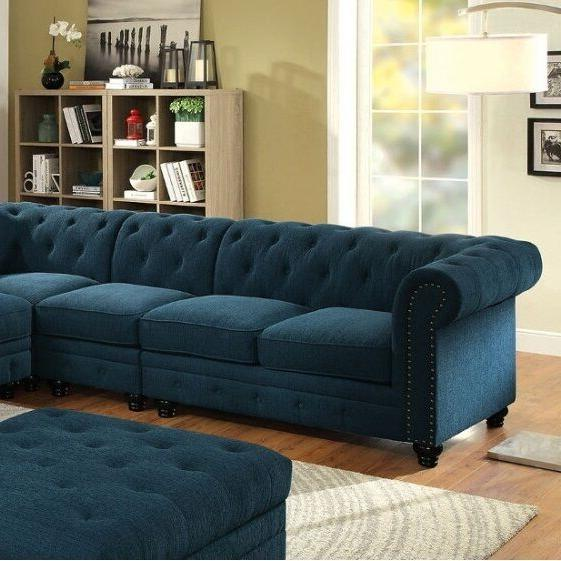 Stunning Sectional Set Sectionals Fabric Tufted Sofa Chair