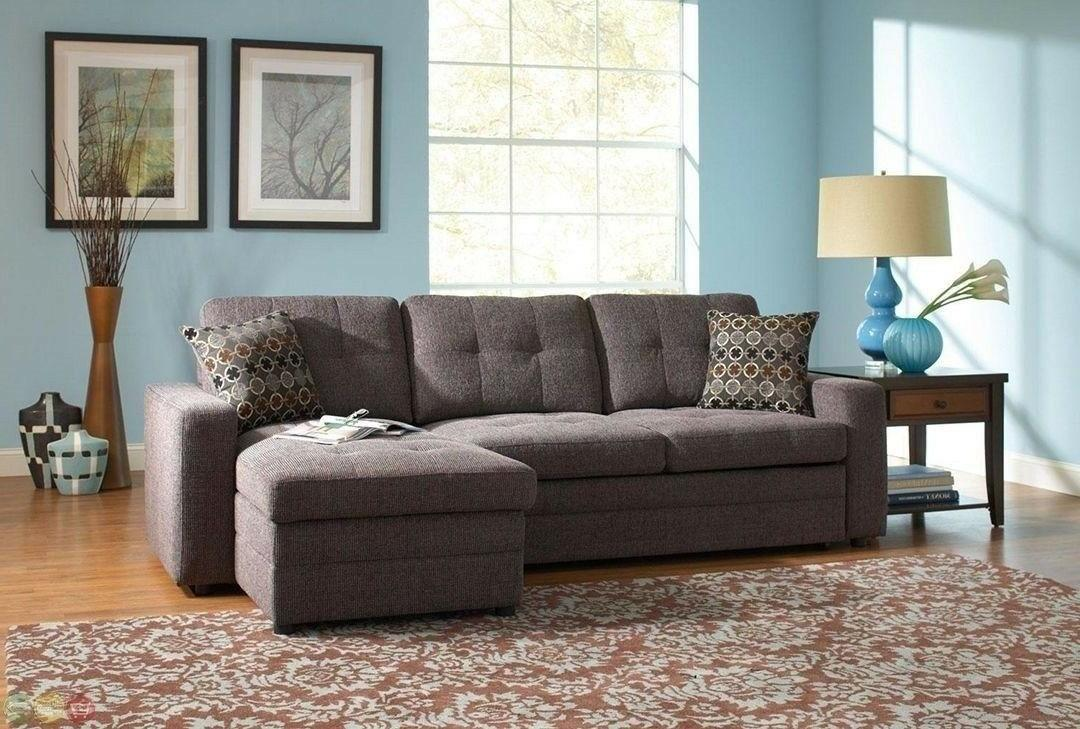 Storage Sectional Sofa with Pull Out Bed