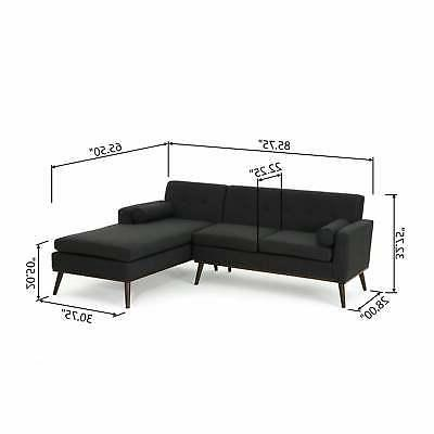 Stormi Modern 2-Piece Mut Sectional Sofa and Dark
