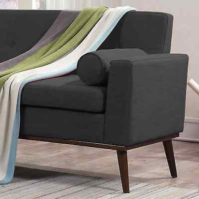 Stormi Modern 2-Piece Mut Sofa and Dark Grey