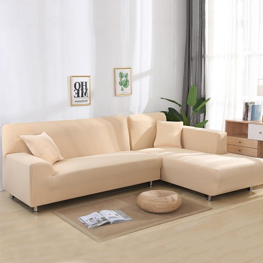 2pcs 3-seater Sofa Covers Fabric Stretch Slipcovers for Sepa