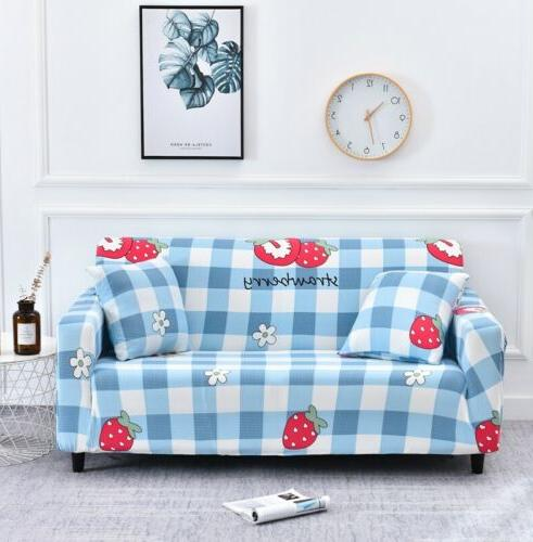 String printed sofa for stretch sectional