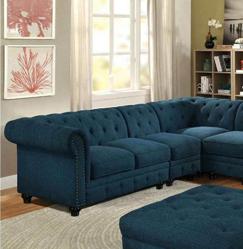Stunning Beautiful Sectionals Dark Teal Tufted Chair