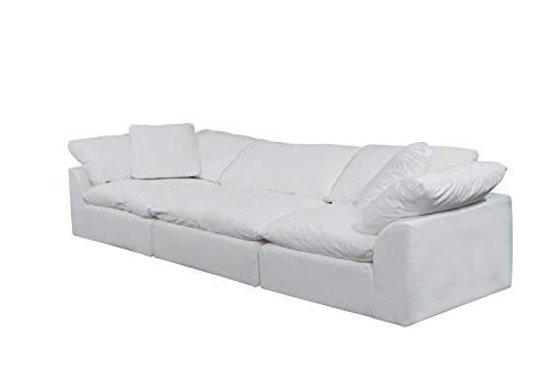 Sunset Trading Cloud Performance White Sectional Slipcovered Sofa